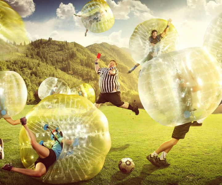 despedidas de solteros fútbol burbuja