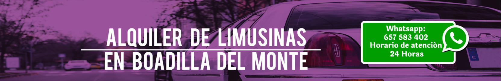 Alquiler de limusinas en Boadilla del Monte